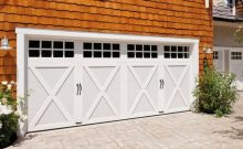 White Carriage House Garage Doors