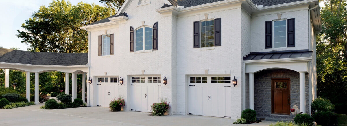 White residential garage doors